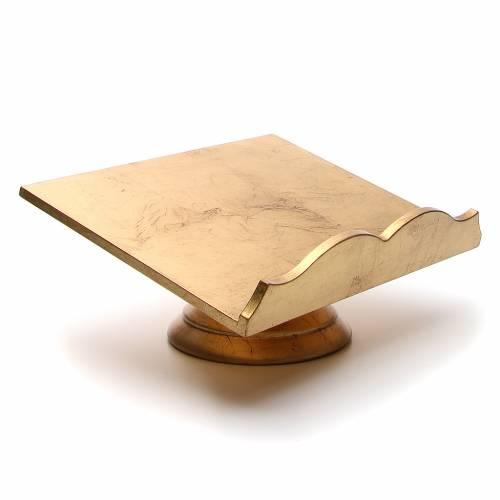 Missal stand, golden leaf s4