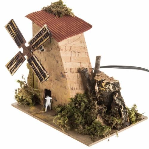 Molino de viento con oveja, eléctrico para pesebre 1,2w s3
