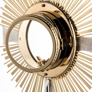 Monstrance in brass, ear of wheat, grapes, for Magna Host s9