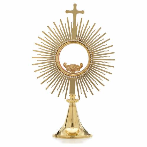 Monstrance,sun shaped, height 34cm, 8cm display case s1