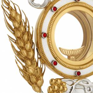 Monstrances, Chapel monstrances, Reliquaries in metal: Monstrance with grapes and ears of wheat