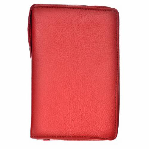 Morning and Evening Prayer cover in red leather s1