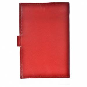 Morning and Evening Prayer cover red leather with Our Lady of Tenderness s2