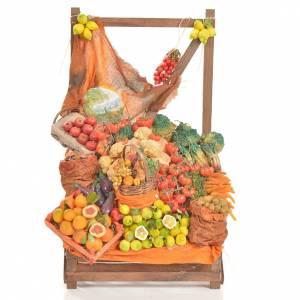 Comida en miniatura: Mostrador frutería de cera 20x22x40 cm.