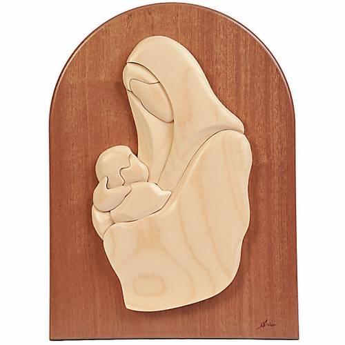 Mother Mary mahogany plaque 1