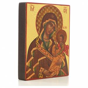 Russian hand-painted icons: Mother of God Suaja red mantle