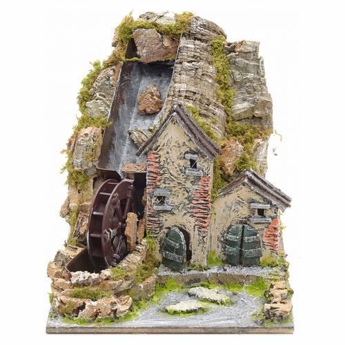 Moulin à eau de montagne pour crèche s1