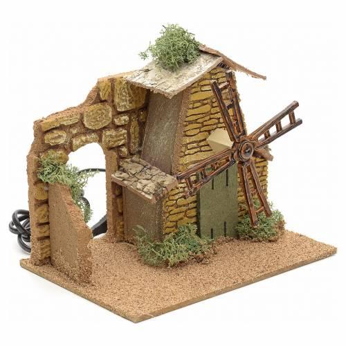 Moulin à vent en miniature pour crèche s2