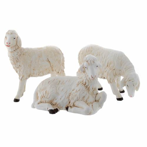 Moutons pour crèche set 3 pcs 40-45 cm s1