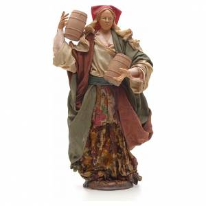 Mujer con barriles 30 cm pesebre napolitano s1