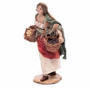 Mujer con cesta de semillas 13 cm belén Angela Tripi s2