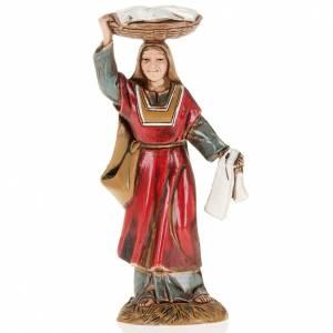 Mujer con cesta en la cabeza 10 cm. Moranduzzo s1