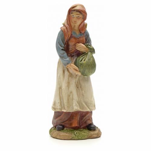 Mujer con mochila cm 20 pesebre resina s1