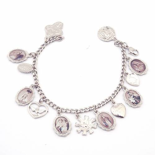 Multi-image medals bracelet s1