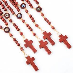 Multi-image rosaries: Multi-image wood rosary