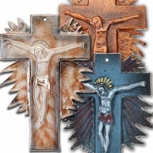 Mural ceramic crucifix (23 cm) s1