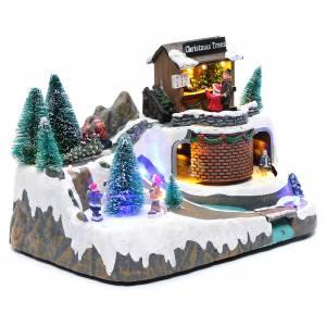 Natale illuminato con musica e movimento 20x25x20 cm s3