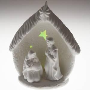Natividad con cabaña cerámica s5