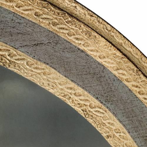 Natividad estampada en madera redonda 60 x 80 cm s5