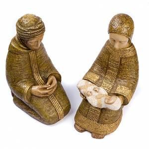 Pesebre Monasterio de Belén: Natividad Virgen campesina grande verde
