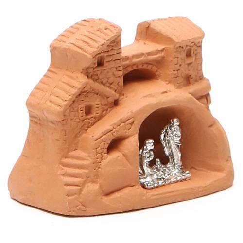 Natività terracotta naturale 6x7x4 cm s3