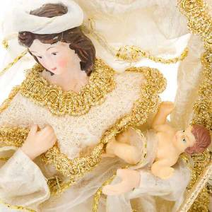 Nativité, 20 cm, blanc et or s2