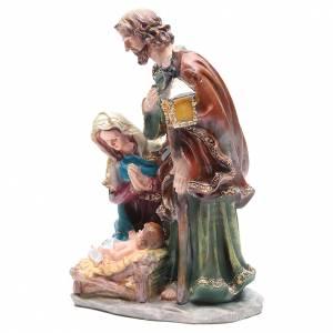 Nativité 37 cm en résine 3 santons s2