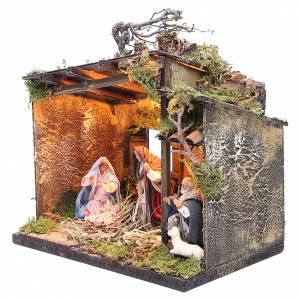 Nativité avec berger et décor 10 cm crèche napolitaine s2