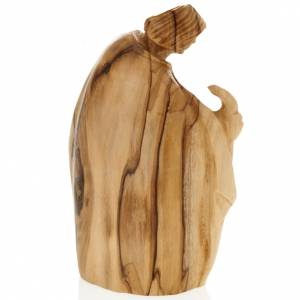 Nativité bois d'olivier Bethléem cm 12.5 s3