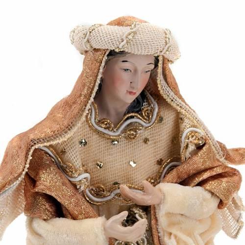Nativité en résine et tissu, 25 cm, bronze s5