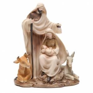 Nativité stylisée pièce unique h 22,5 cm résine s1