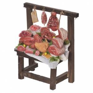 Nativity accessory, butcher's stall in wax 22x16.5x8cm s2