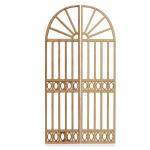 Balustrade, doors, railings: Nativity accessory, gate, 2 pieces 26.5x13cm