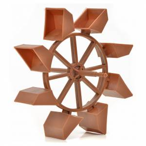 Water pumps and gear motors for nativity scenes: Nativity accessory, mill wheel, 11 cm