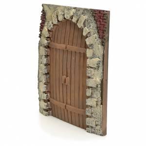 Balustrade, doors, railings: Nativity accessory, resin arched door 15x14cm