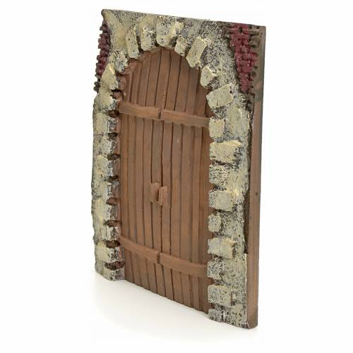 Nativity accessory, resin arched door 15x14cm s2