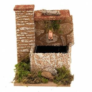 Nativity accessory, water fountain with wall in cork, 2,5 watt s1