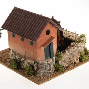 Watermills and windmills: Nativity accessory, watermill with house 24x29x29 cm