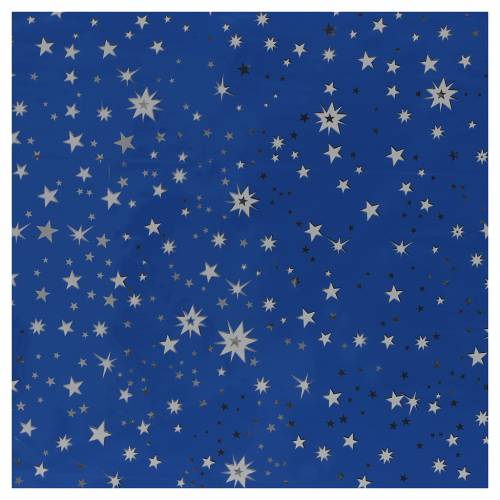 Nativity backdrop, sky with silver stars, roll of paper 70x100 s1