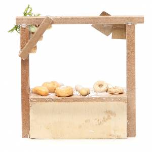 Nativity bread and cake stall in wax, 10.5x11x4cm s2