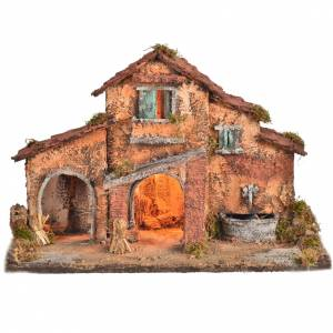 Nativity farmhouse , Neapolitan nativity 40x38x40cm s1