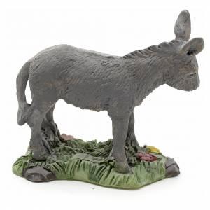 Nativity figurine, donkey in resin 8cm s2