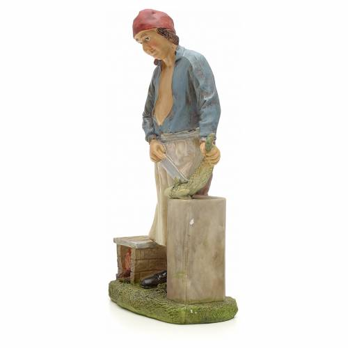 Nativity figurine, fishmonger 20cm resin s2