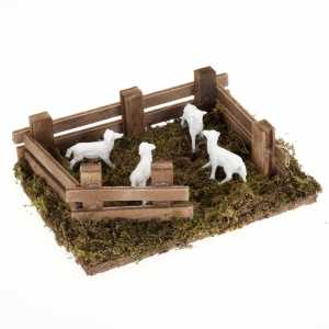 Animals for Nativity Scene: Nativity figurine, sheep in the pen 10 cm
