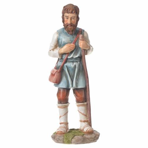 Nativity figurine, shepherd with pole, 30cm resin s4