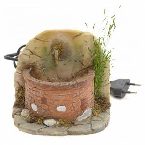 Fountains: Nativity fountain in resin with small bricks 11x11x11cm