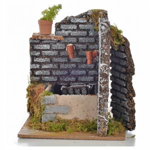 Nativity fountain with 2 streams of water, 15x12x13cm s3