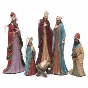 Nativity sets: Nativity in fabric and resin, 30cm