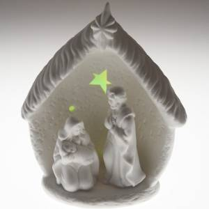 Nativity in the hut with led light s5