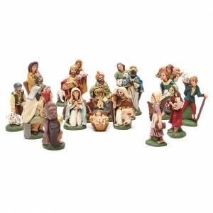 Nativity painted Terracotta 20 pcs. h. 10cm s1